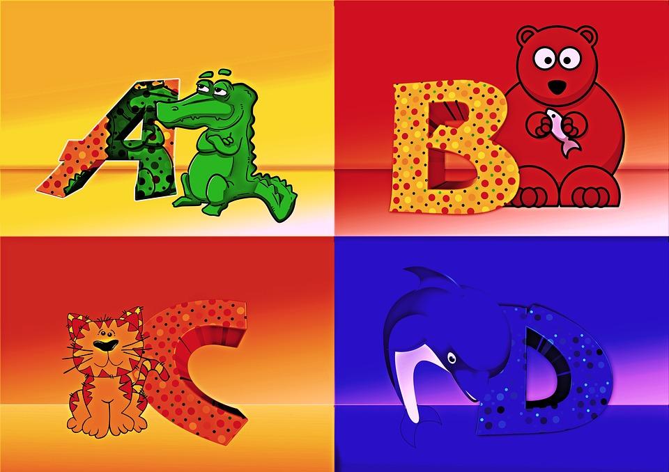Letters, Abc, Abcd, Education, A, Crocodile, Bear, Cat