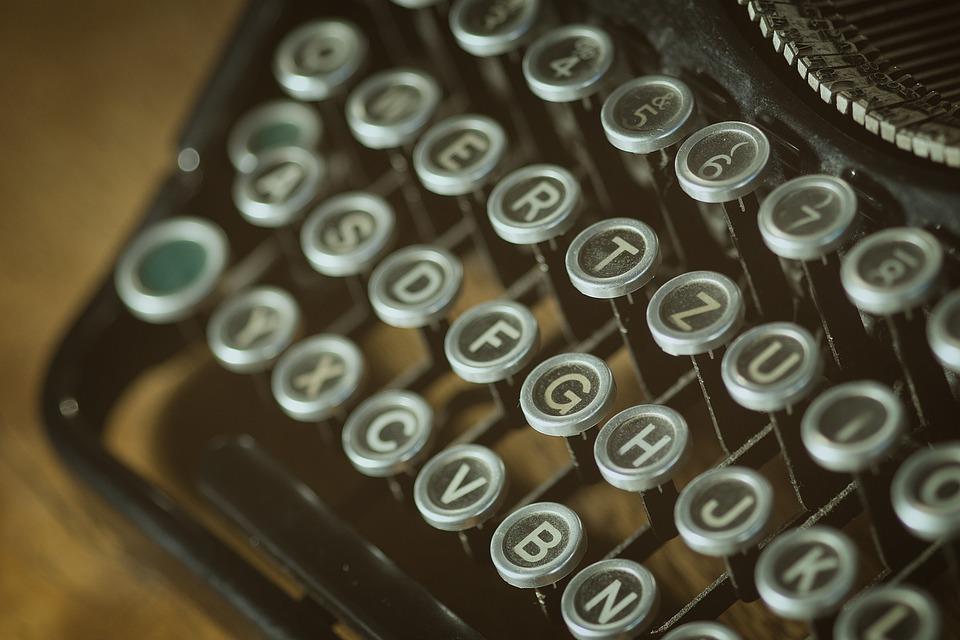 Letters, Old, Typewriter, Vintage