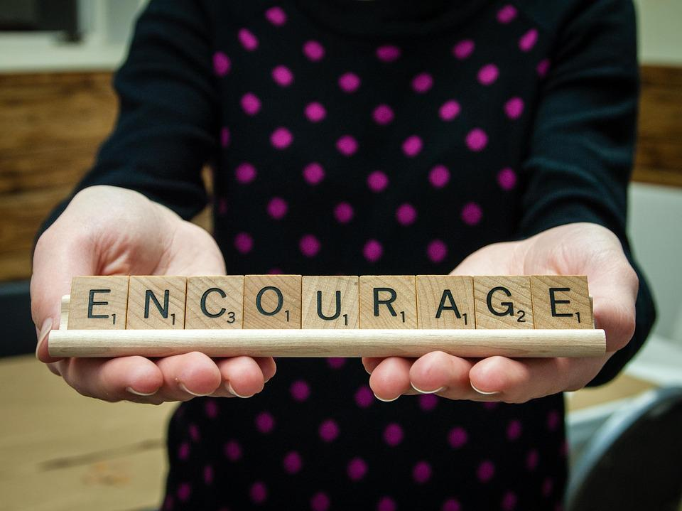 Word, Encourage, Scrabble Tiles, Letters, Message