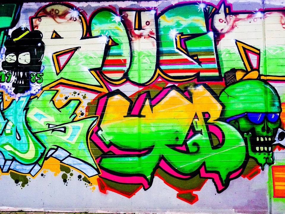 Graffiti, Letters, Font, Text, Skull And Crossbones