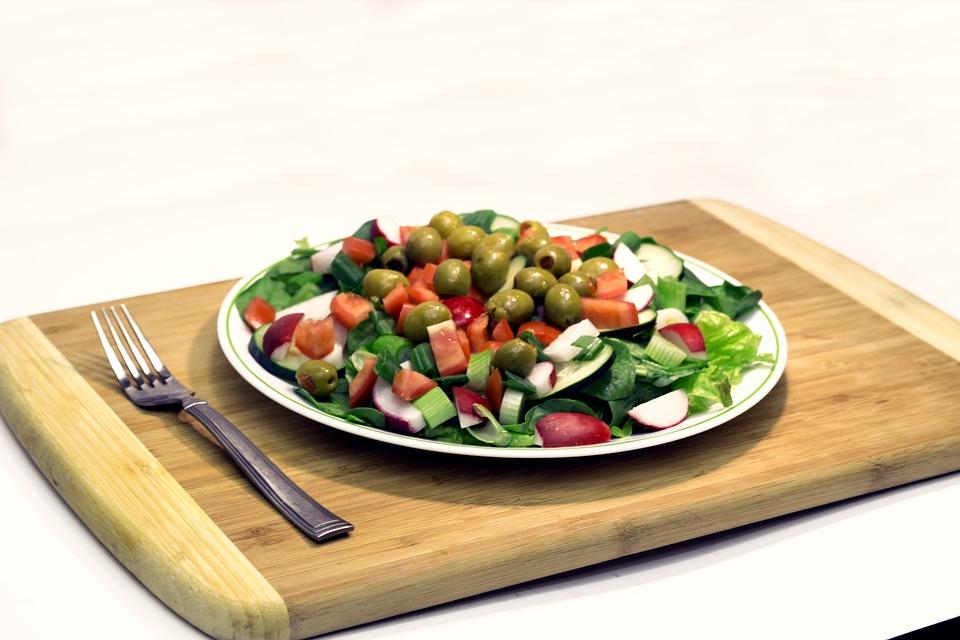 Salad, Lettuce, Olives, Health, Nutrition, Tomatoes