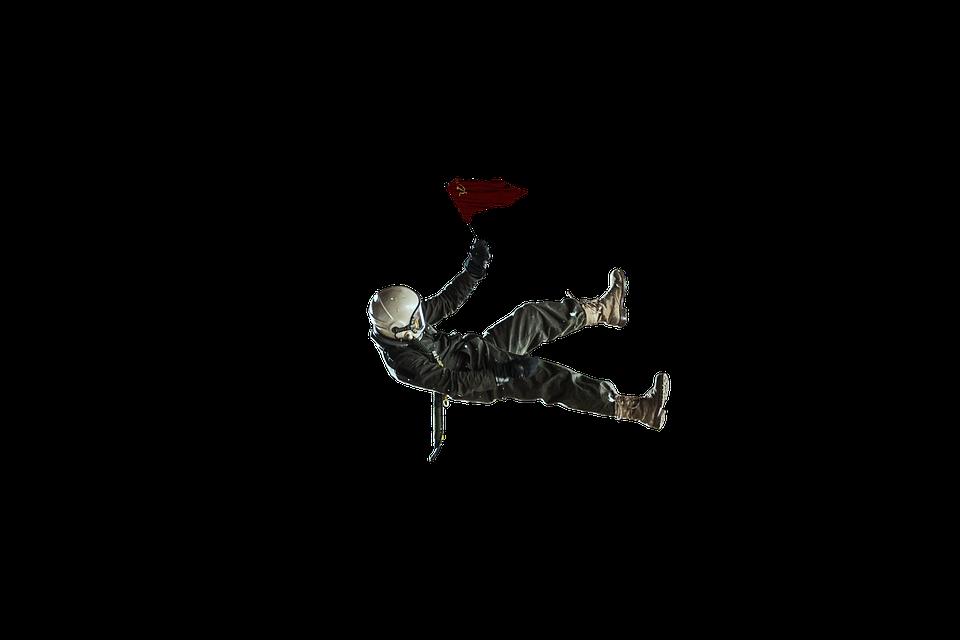Soviet Cosmonaut, Levitation, Flag Man, Sky, The Ussr