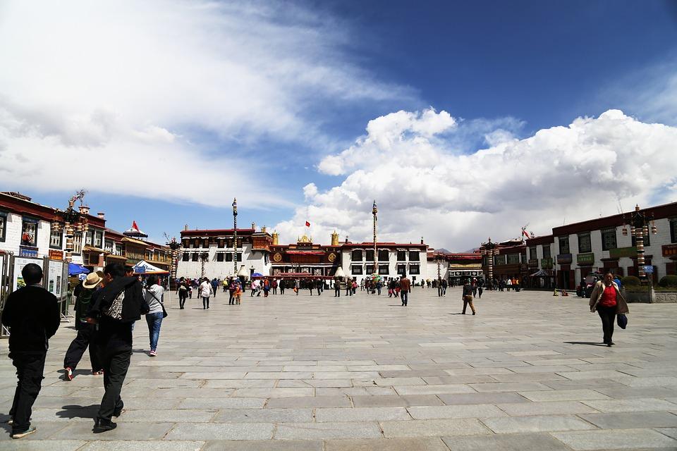 Lhasa, Tibet, Jokhang Temple, Blue Sky, The Majestic