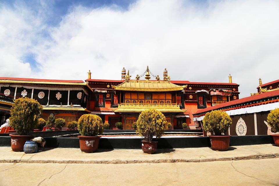 Jokhang Temple, Lhasa, Tibet, Blue Sky, The Majestic