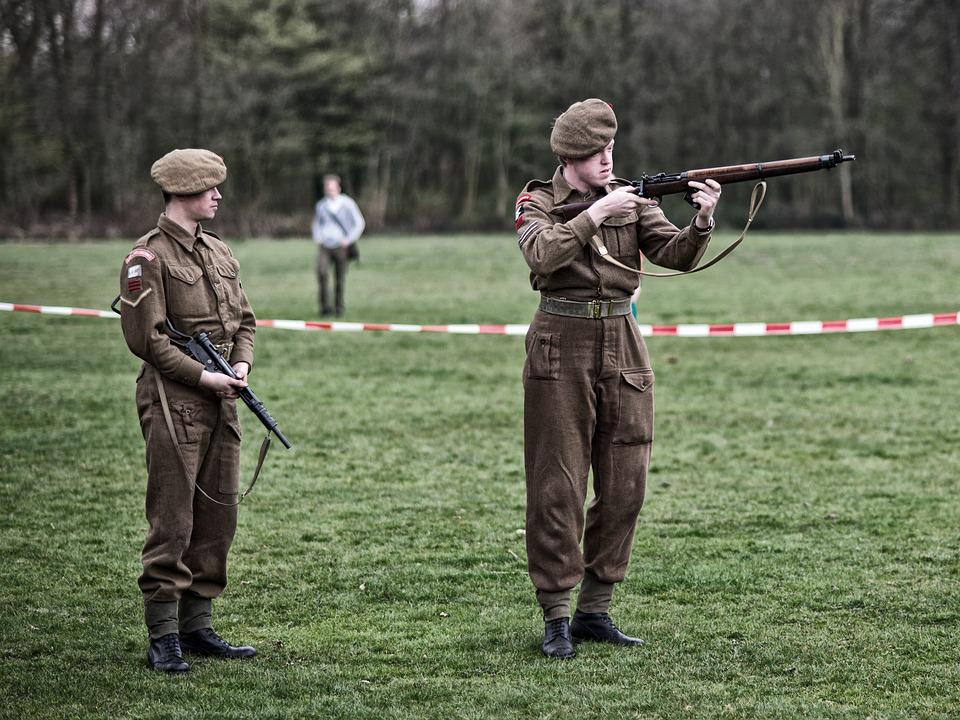 Re-enactors, British, Liberation, Allies, Military