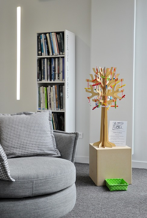 Books, Armchair, Reading, Living Room, Library