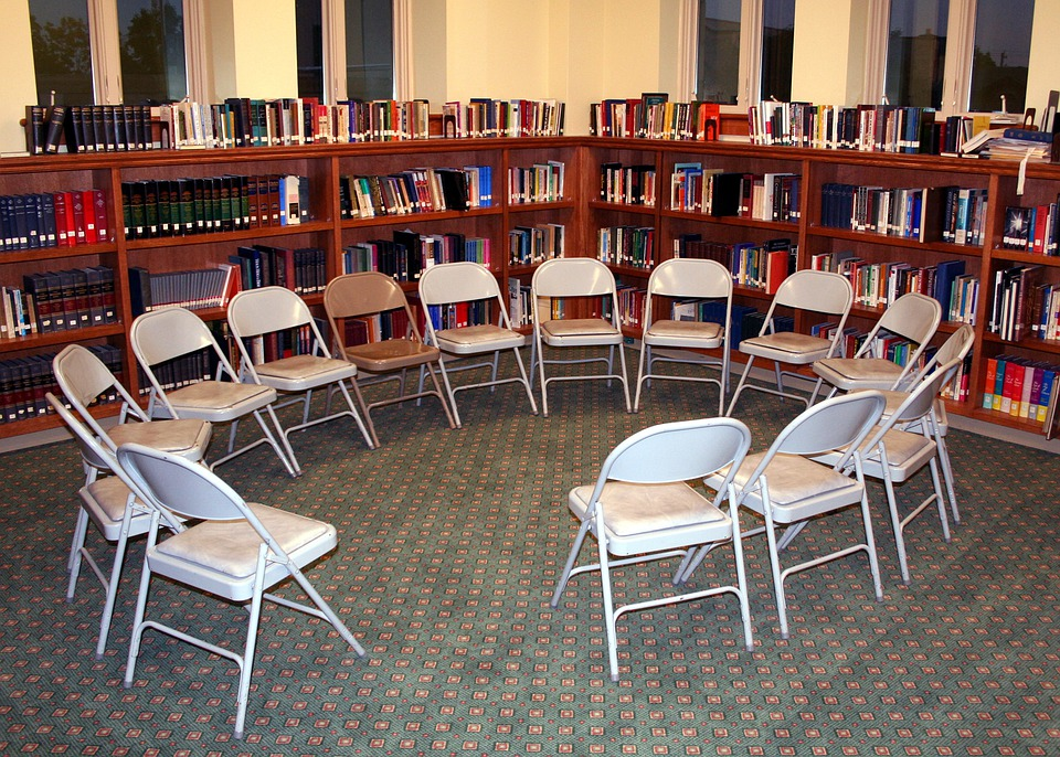 Chairs, Circle, Library, Discussion, Education, Learn