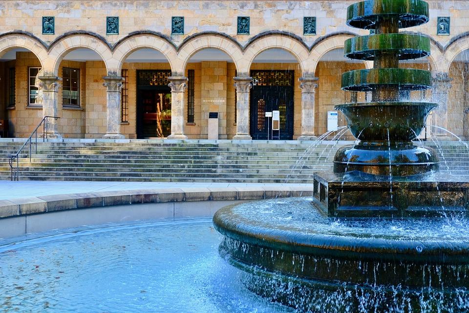 Library, University, Tokyo, Fountain, Intelligence