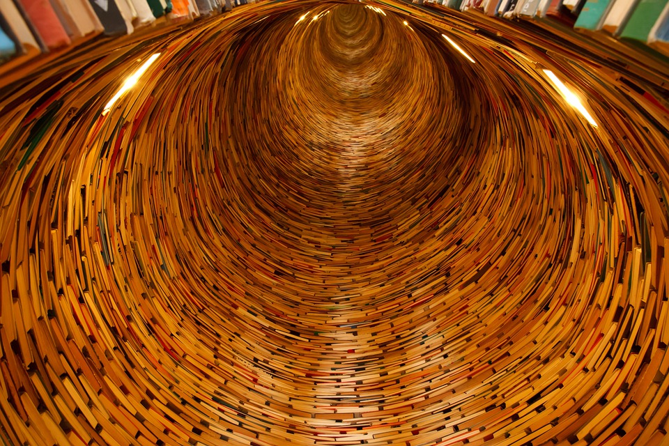 Books, Library, Knowledge, Tunnel, Many, Circle