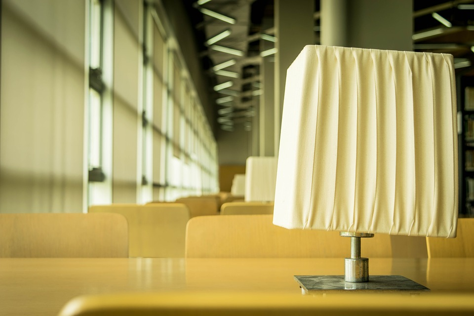 Table Lamp, Campus, Tables, Library