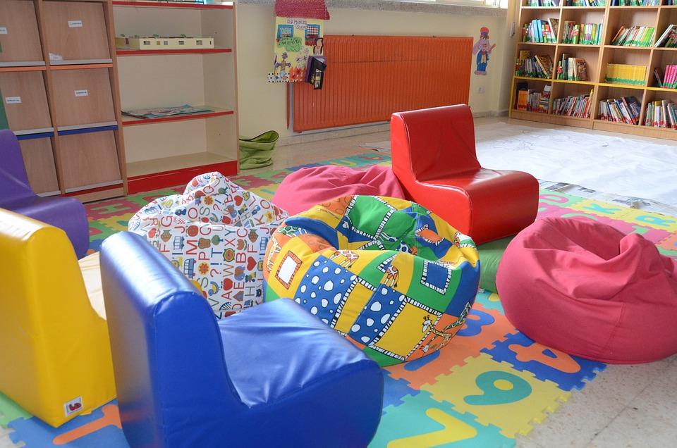 Classroom, School, Library, Teaching, Room