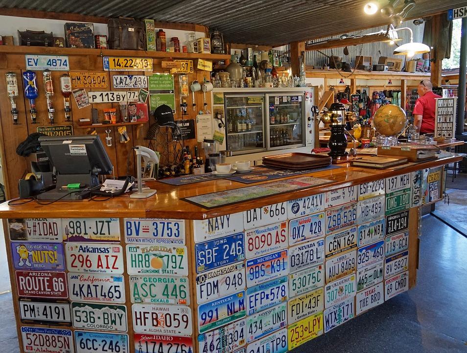 Free photo License Plates Deco Bar Pub Decoration - Max Pixel