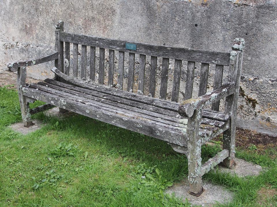 Bench, Seat, Old, Lichen, Dilapidated, Wooden