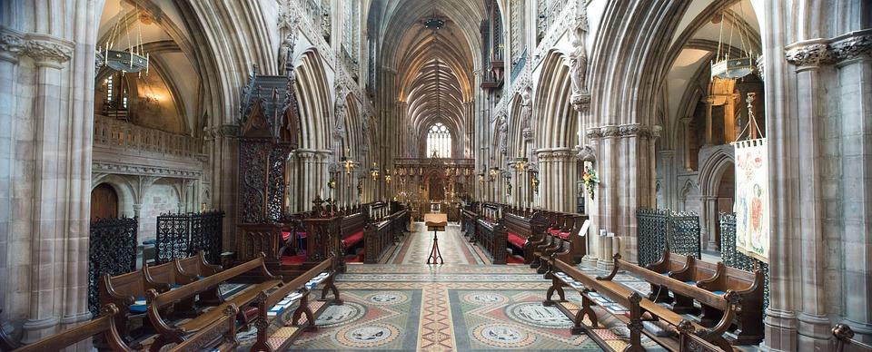 Lichfield, Cathedral, Gothic, Staffordshire, England