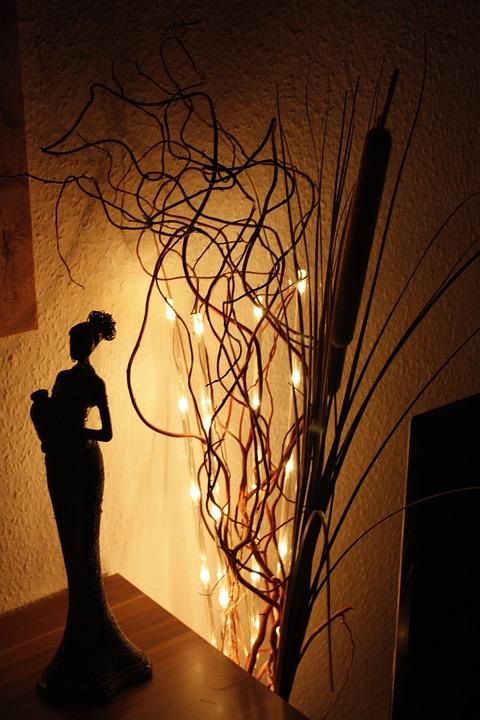 Africa, Lichterkette, Woman