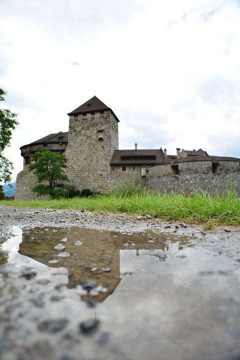 Liechtenstein, City, Buildings, Castle