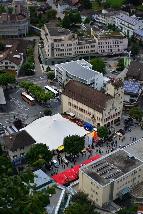 Liechtenstein, City, Buildings, Architecture