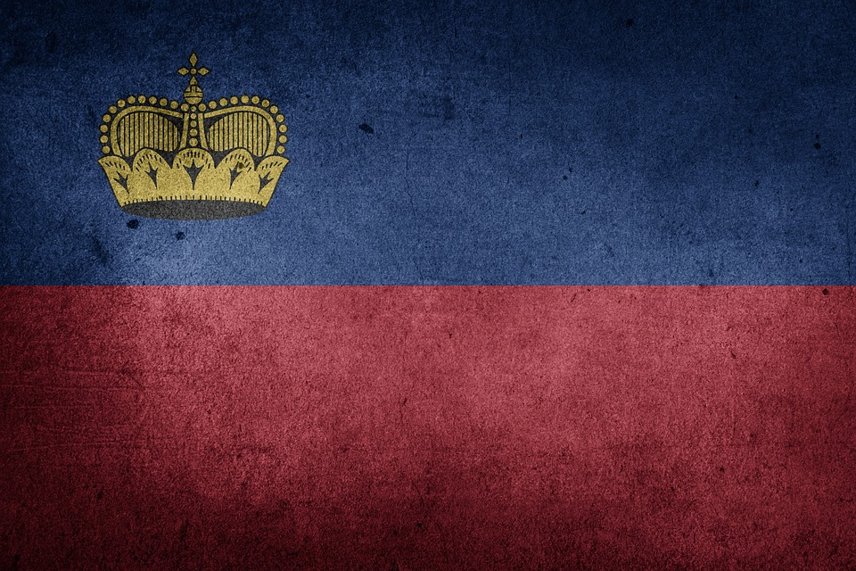 Flag, Liechtenstein, Europe, National Flag, Grunge