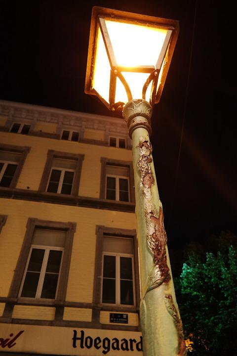 Lantern, Light, Liege, Liège, Belgium, Lamp