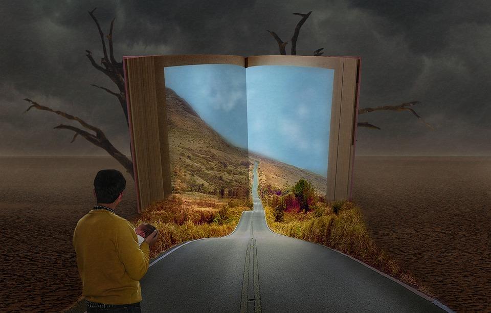 Book, Children, Father, Life, Fantasy, Road, Light