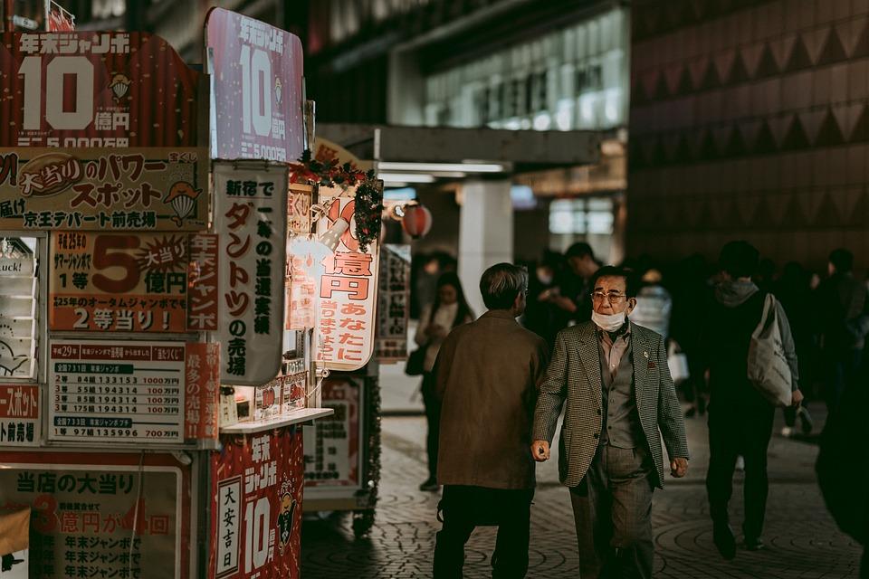 Street, People, Night, Shinjuku, Life, Crowd, Tokyo