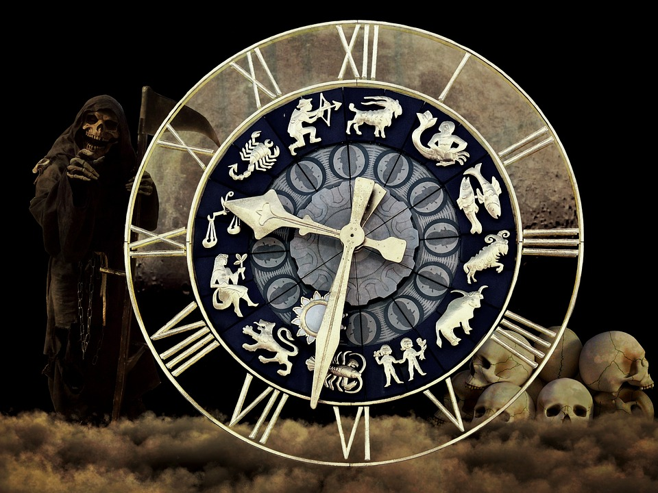 Clock, Fate, Life Time, Death, Transience, Clock Face