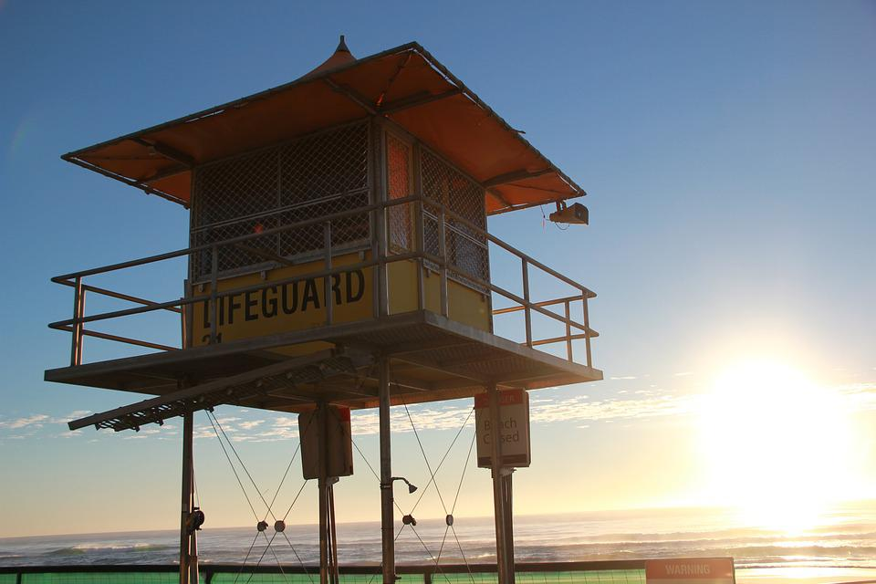 Lifeguard, Beach, Summer, Sunrise