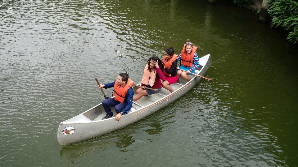 Lake, Lagoon, Kayak, Boat, Lifeguard, People, Safety