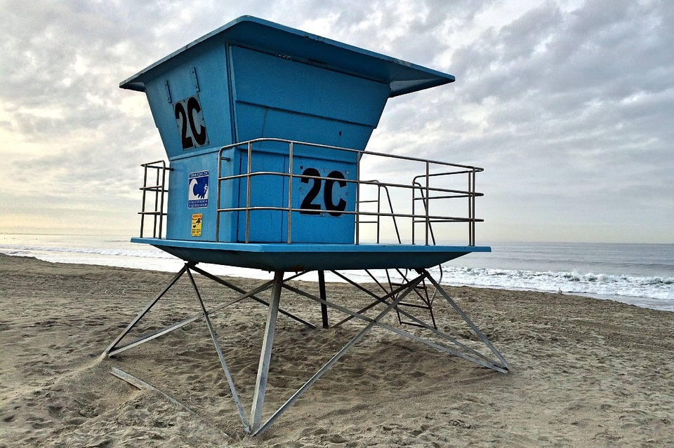 Beach, Lifeguard, Stand, Ocean, Sea, Water, Sand