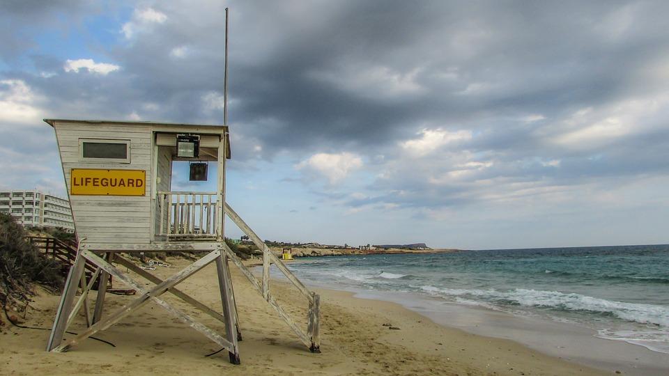 Lifeguard Tower, Beach, Sea, Safety, Cyprus, Ayia Napa