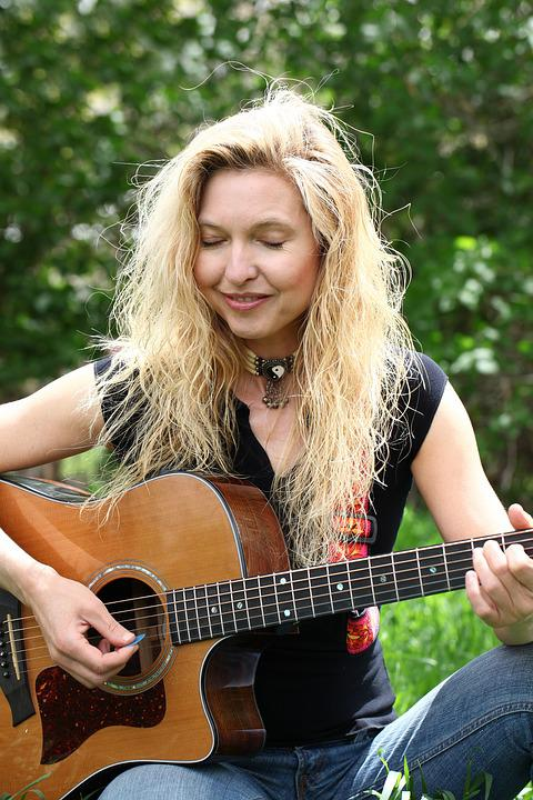 Woman, Guitar, Music, Instrument, Female, Lifestyle