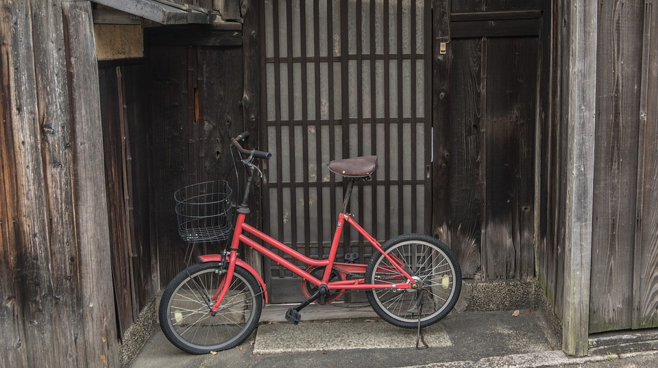 Bicycle, Red, Japan, Activity, Lifestyle