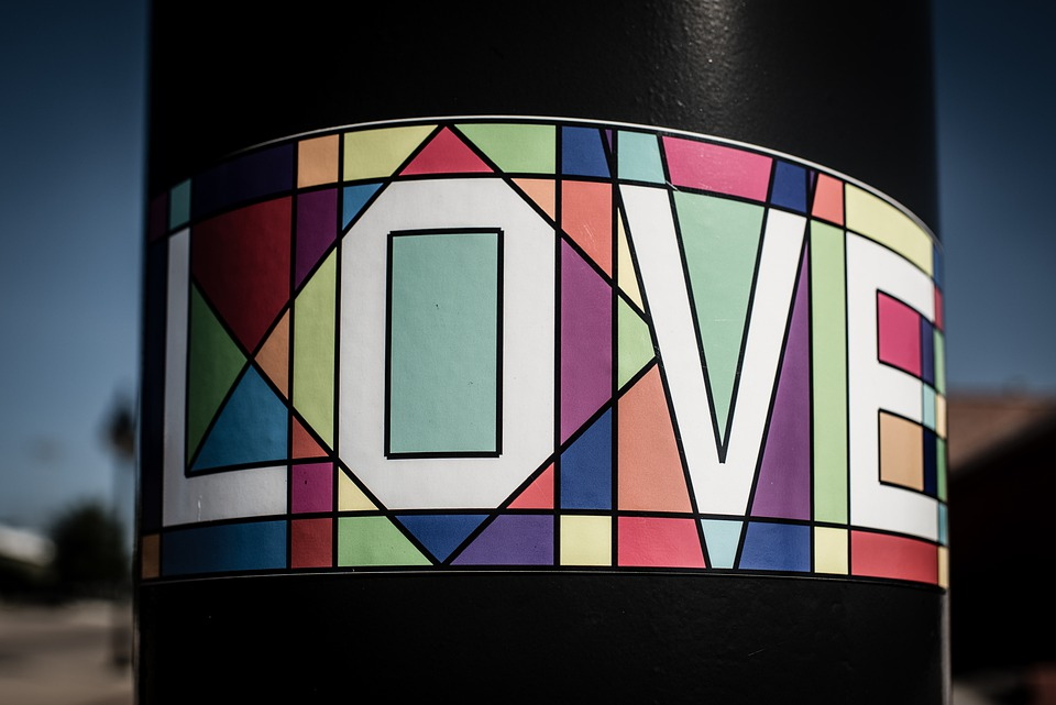 Love, Pole, Colors, Words, Outdoor, Romantic, Lifestyle