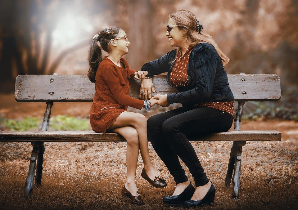 Mother And Daughter, Adult, Women, Two, Lifestyle
