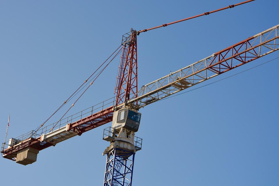 Crane, Site, Cabin, Lifting, Building, Work, Arm