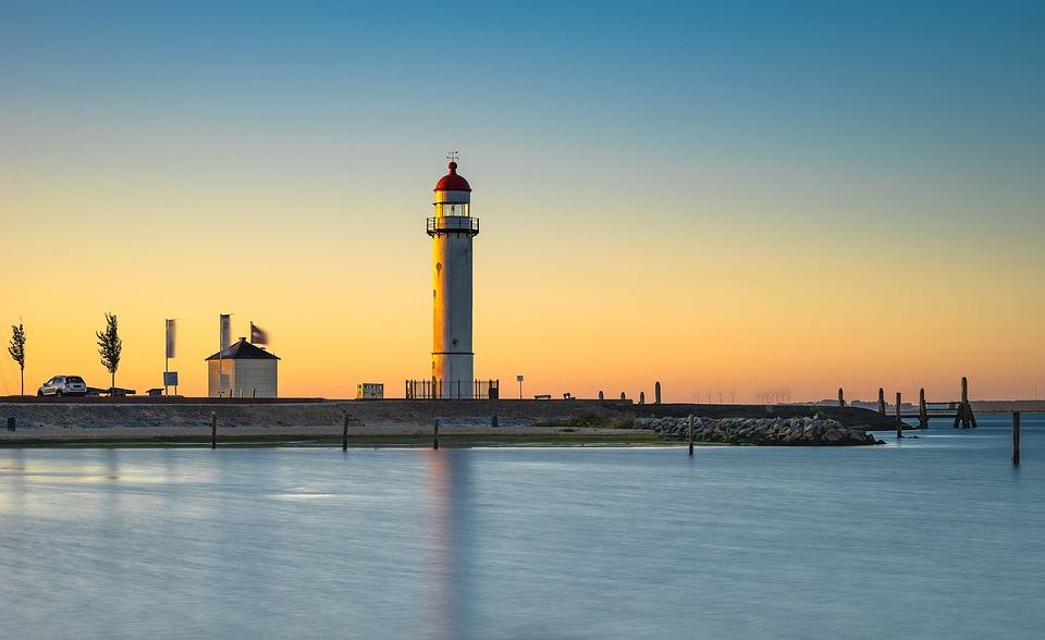 Tower, Lighthouse, Coast, Sea, Light, Architecture
