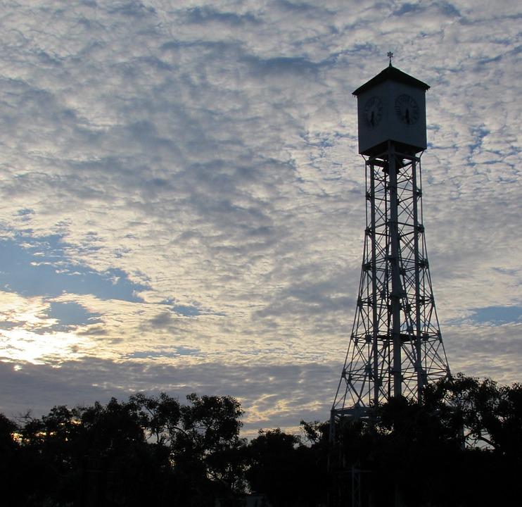 Tower, Sky, Light, Energy, Artificial Satellite, Sunset
