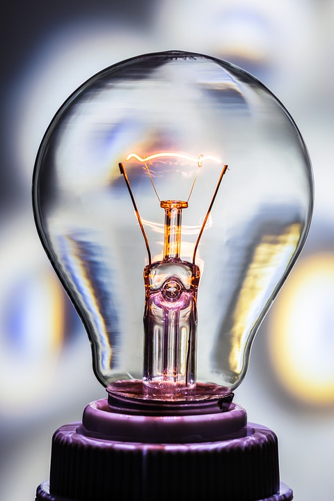 Light Bulb, At, Burn, Light, Glow Lamp, Immediately