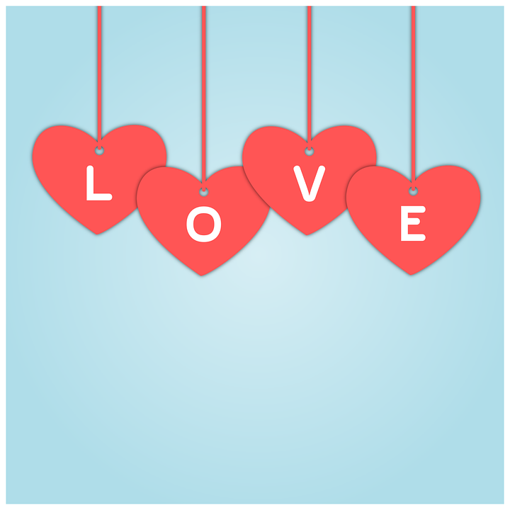 Hearts, Heart, Love, Background, Light Blue Background