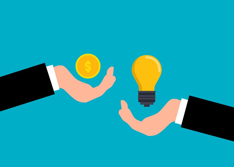 Money, Light Bulb, Idea, Cartoon, Coin, Exchange, Buy