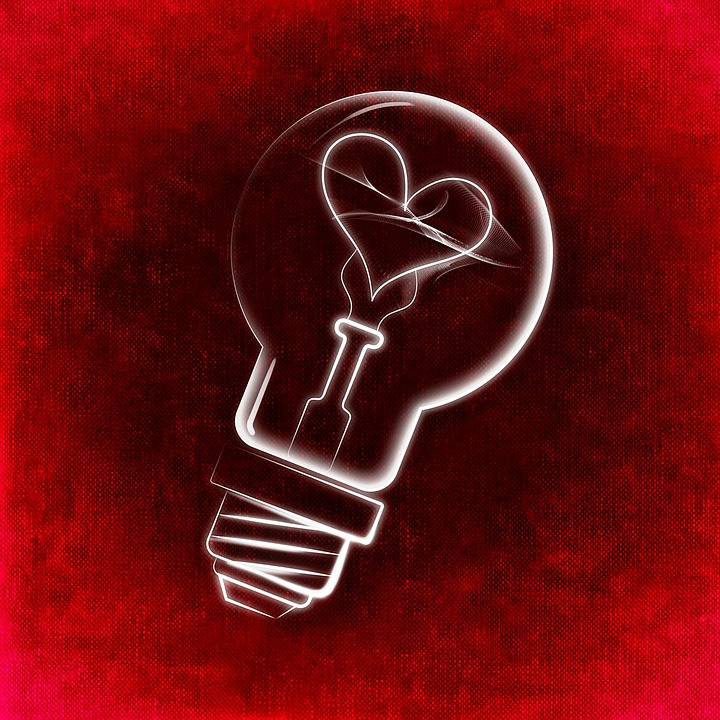 Love, Idea, Light Bulb, Enlightenment, Incidence