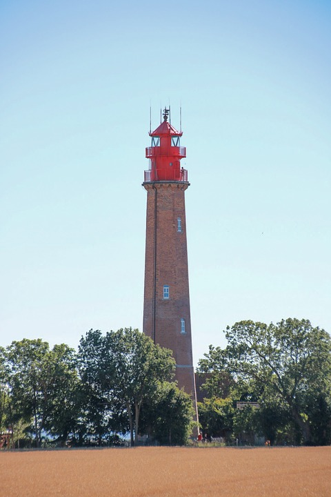 Fehmarn, Lighthouse, Holiday, Sun, Light Bulb, Alone