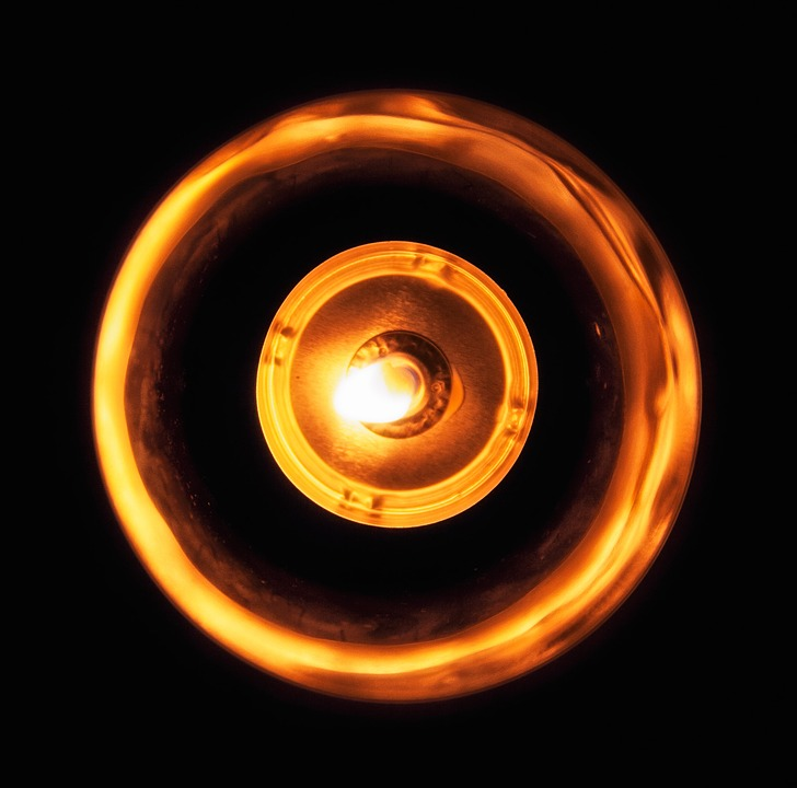 Candle, Light, Fire, Contrast, Orange, Circle, Yellow