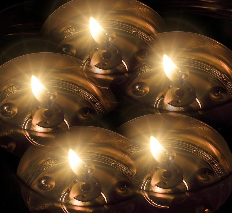 Tea Lights, Candles, Background, Light, Candlelight