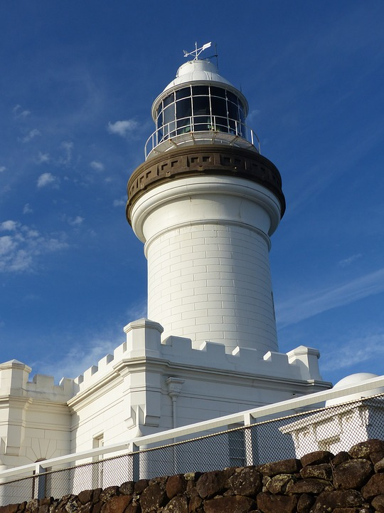 free photo light cape byron lighthouse ocean warning coast max pixel