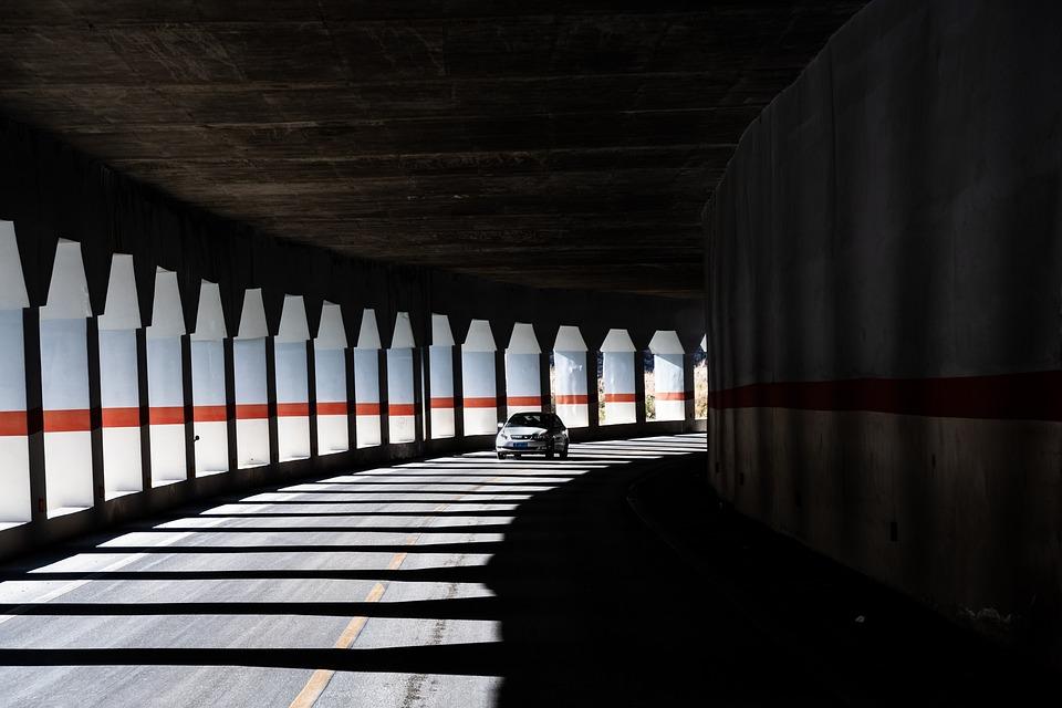 Tunnel, Road, Speed, Highway, Light, Landscape, Cave