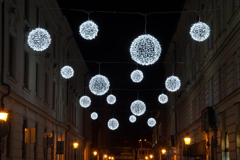 Ball, Light, Christmas Lights, Night, Winter Wonderland