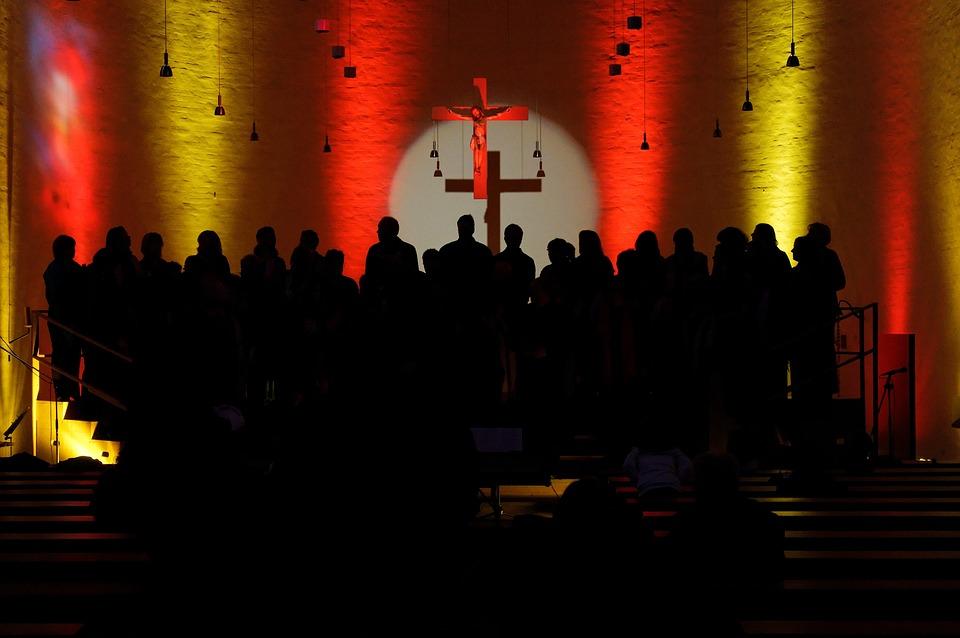 Choir, Church Choir, Light, Shadow, Shadow Play