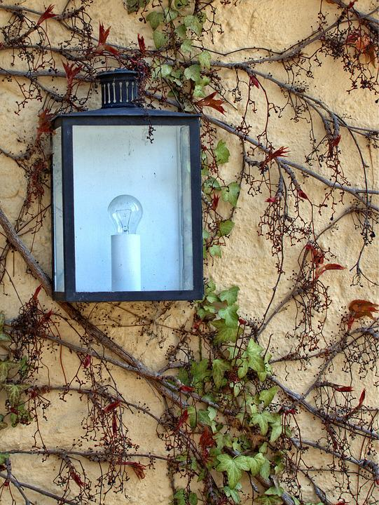 Lamp, Light, Wall, Lighting, Lantern, Climber, Fouling