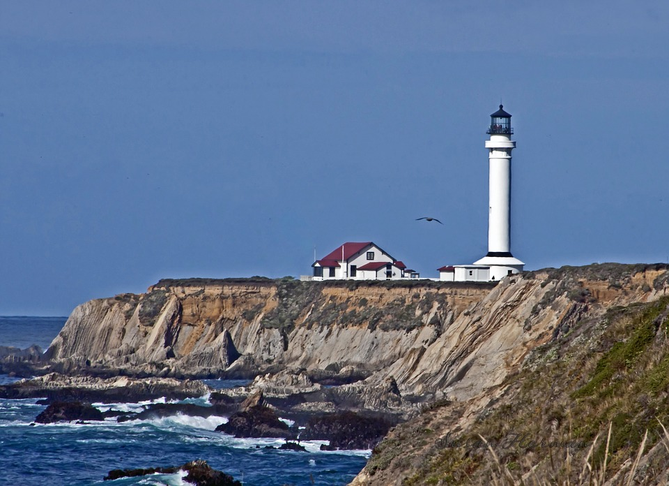 Lighthouse, California, Ocean, Light, Coast, Pacific